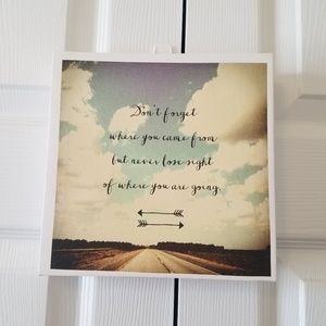 "Other - ""Dont Forget Where You Came From"" Canvas Wall Art"